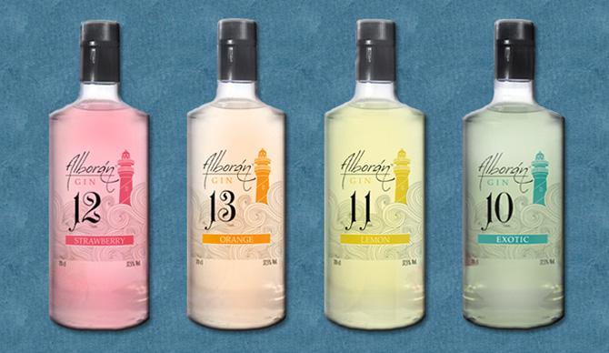 Variedad de Alborán Gin, ginebras 100% malagueñas
