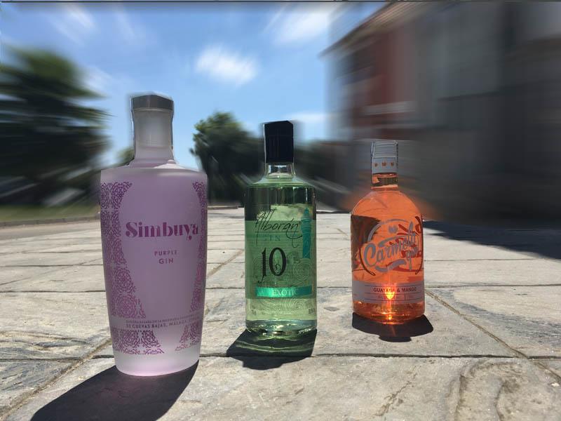 Ginebras aromatizadas Simbuya, Alborán Melón y Carmela