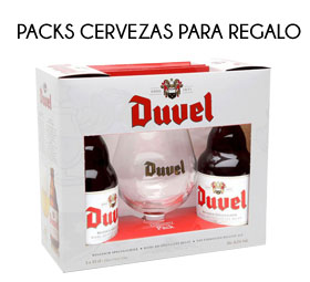 Packs cervezas con copas