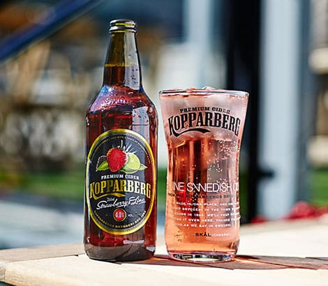 Kopparberg Strawberry and Lime en Bodecall