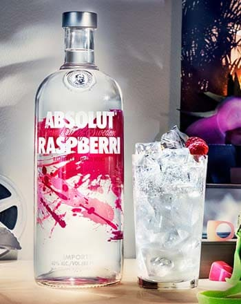 Vodka Absolut Raspberry en Bodecall