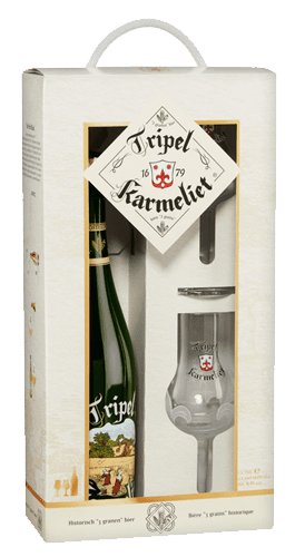Gift Pack Tripel Karmeliet 1 bottle 2 glasses