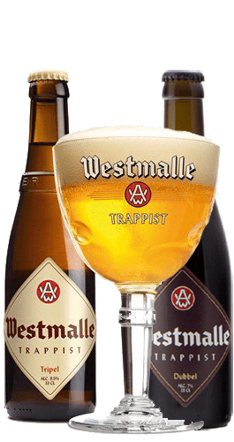 Westmalle Pack 1 Tripel, 1 Dubbel and 1 glass