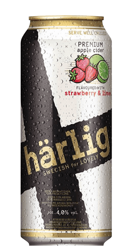 Sidra Harlig Fresa y Lima Strawberry & Lime