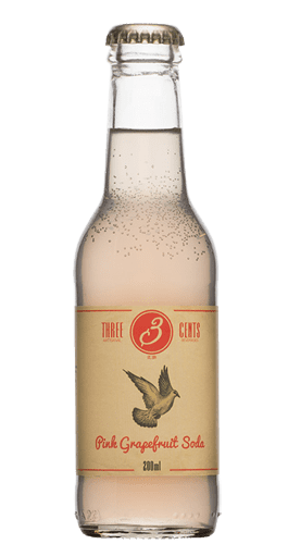 Three Cents Pink Grapefruit Soda Pomelo